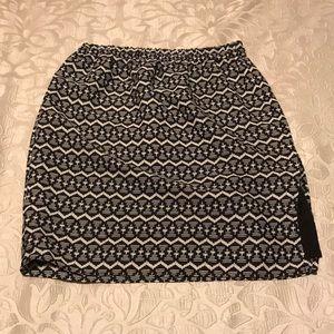 Loft geo print slit skirt
